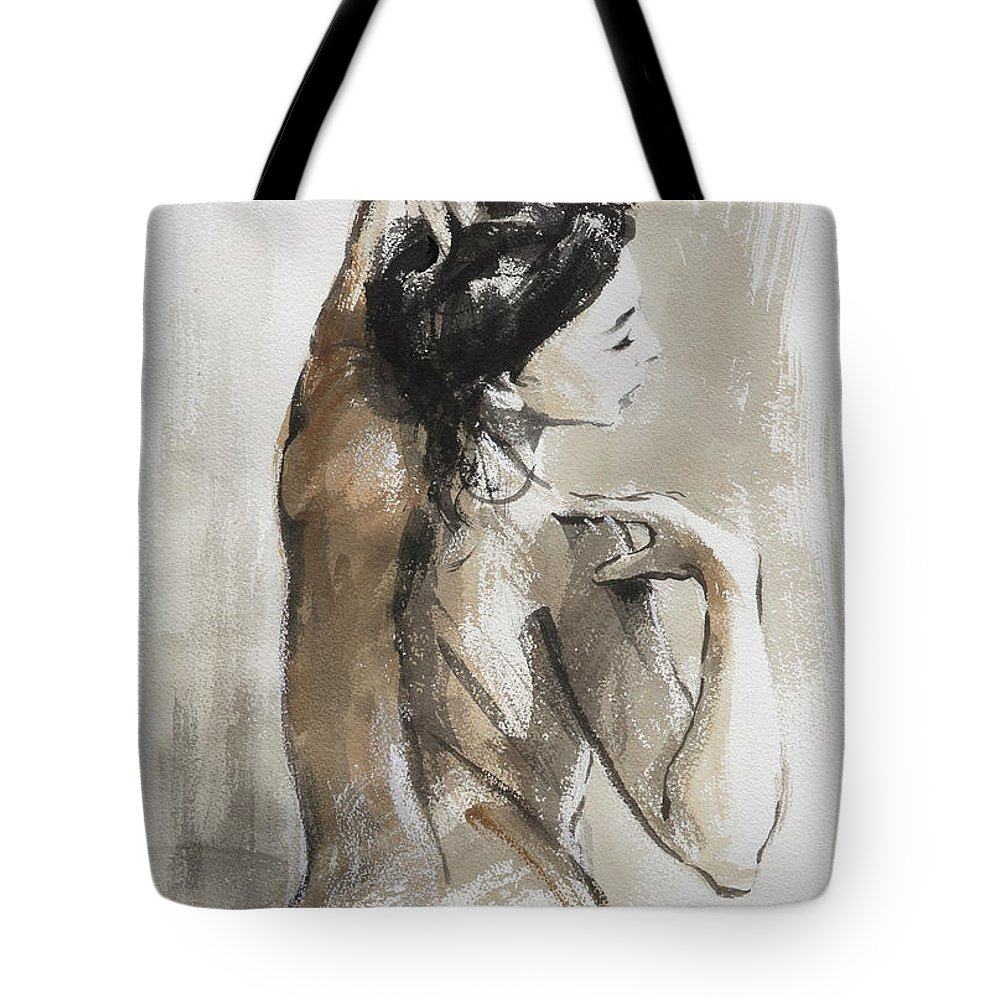 Woman Tote Bag featuring the painting Expression by Steve Henderson