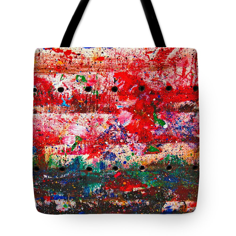 Abstract Tote Bag featuring the painting Extravaganza by Natalie Holland