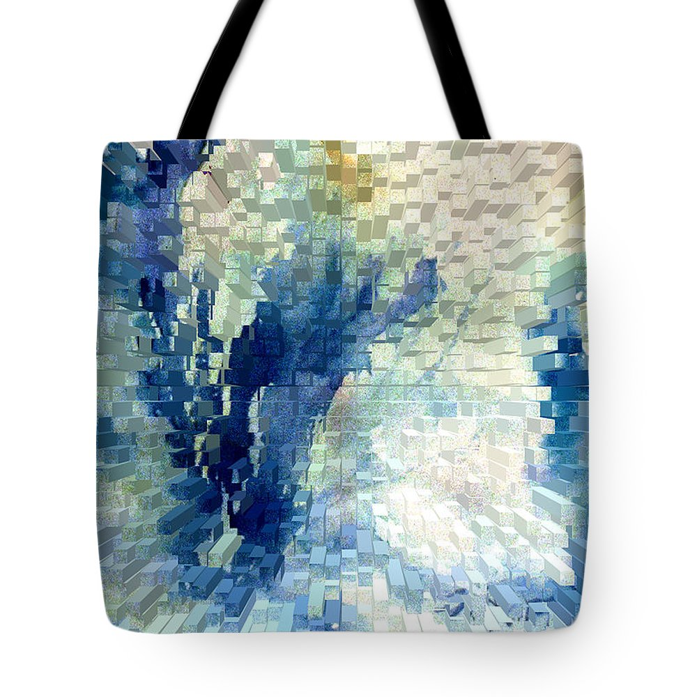 Abstract Tote Bag featuring the painting Extrude by Steve Karol
