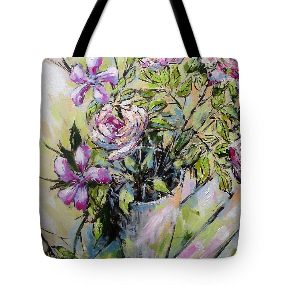 Painting Tote Bag featuring the painting Exuberance by Cathy MONNIER