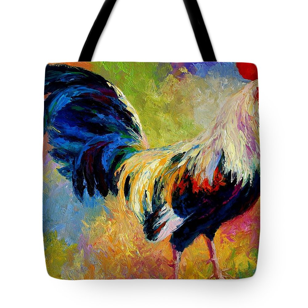 Rooster Tote Bag featuring the painting Eye Candy by Marion Rose