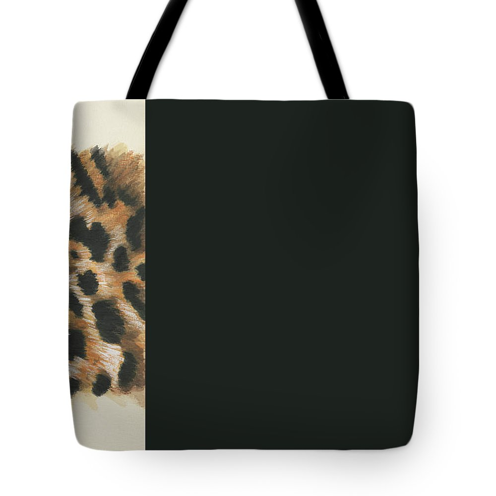 Jaguar Tote Bag featuring the painting Eye-catching Jaguar by Barbara Keith