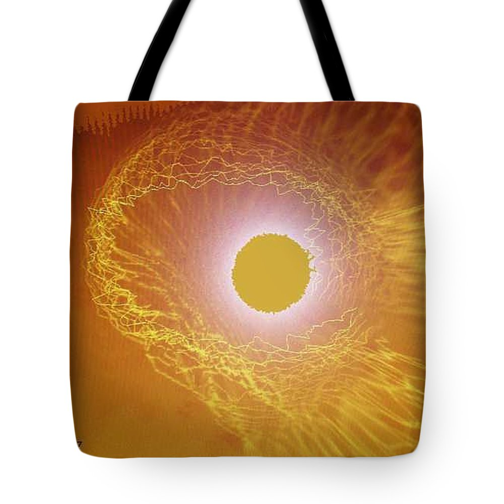 The Powerful Gaze Of The Almighty. Destroying Evil With His Almighty Sight. Tote Bag featuring the digital art Eye Of God by Seth Weaver