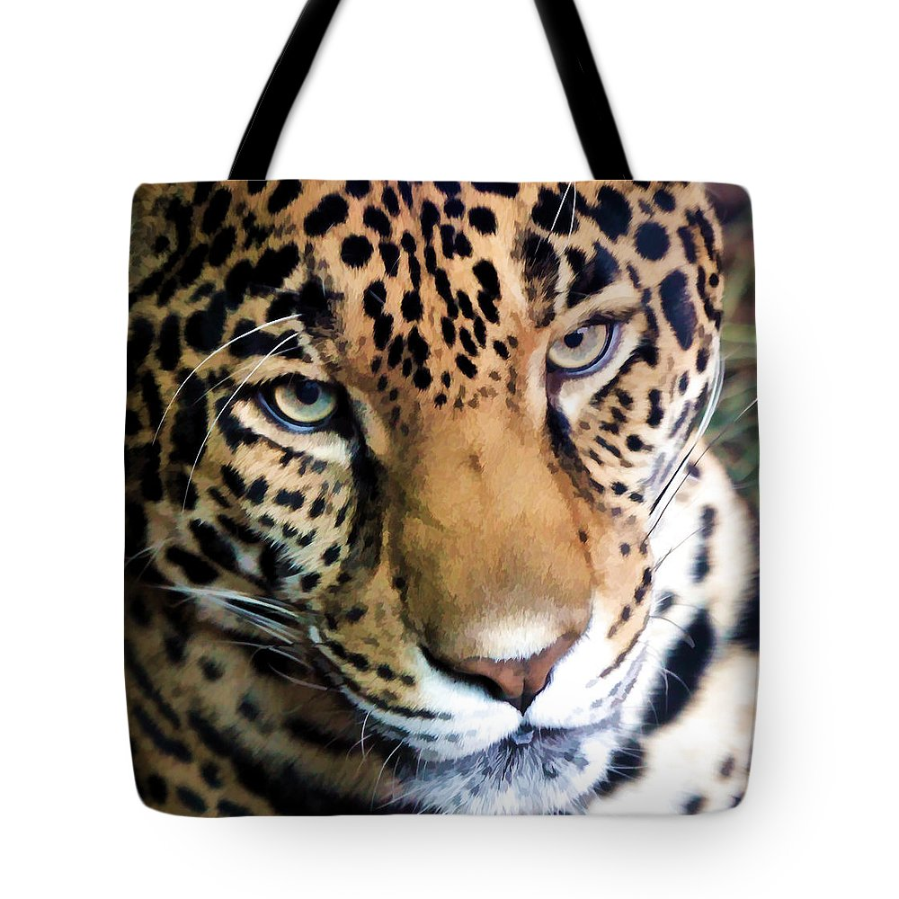 Leopard Tote Bag featuring the photograph Eye Of The Leopard by Athena Mckinzie