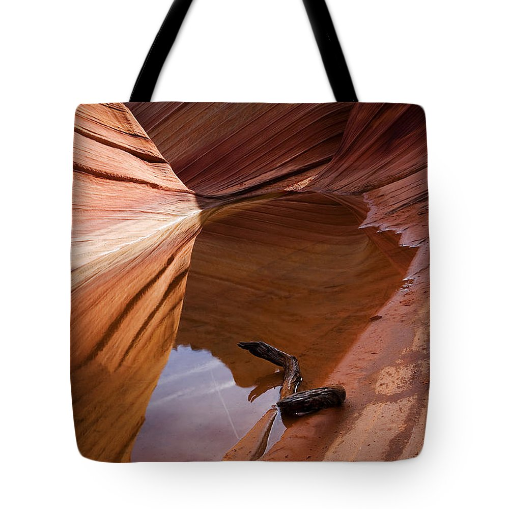 Wave Rock Tote Bag featuring the photograph Eye Of The Wave by Mike Dawson