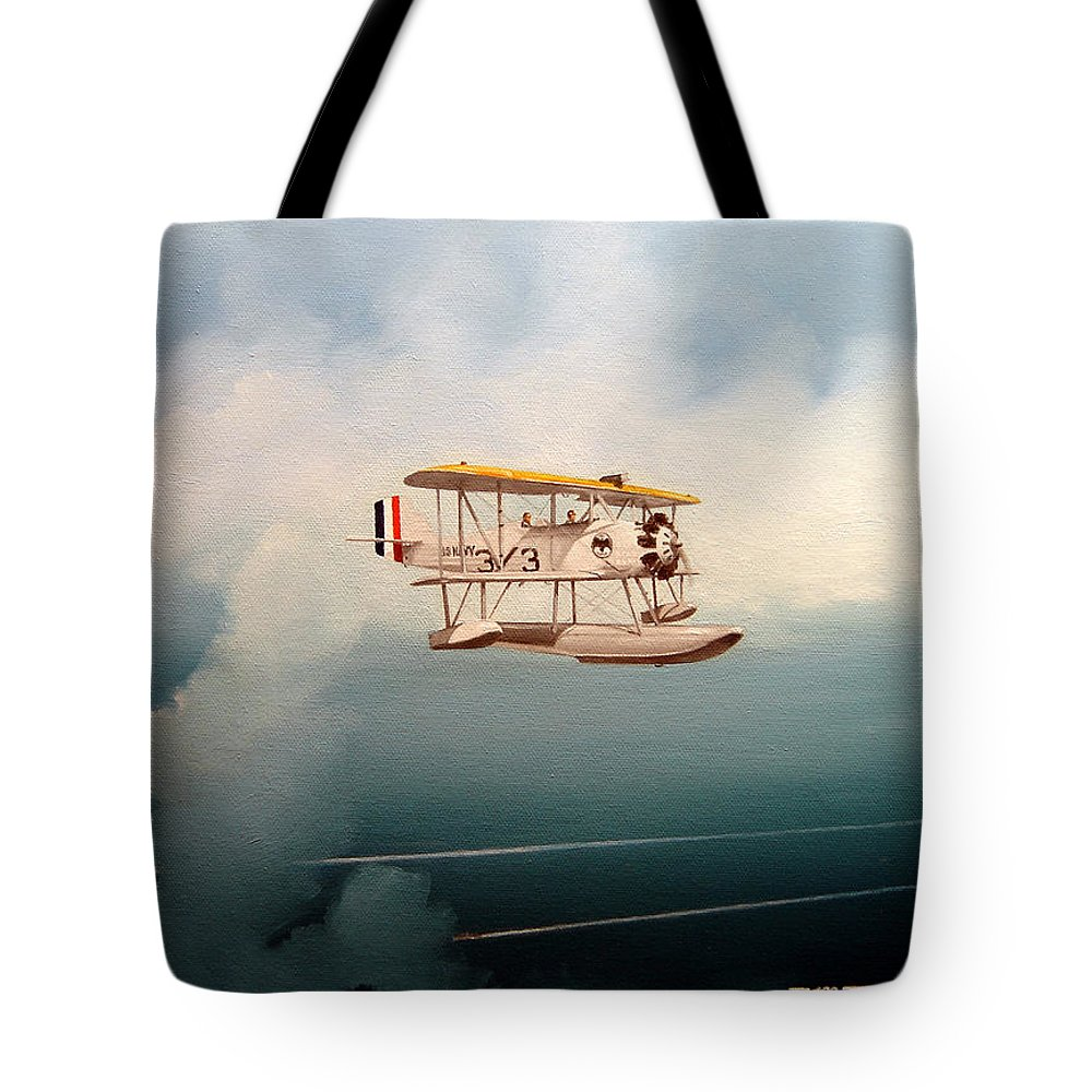 Military Tote Bag featuring the painting Eyes Of The Fleet by Marc Stewart