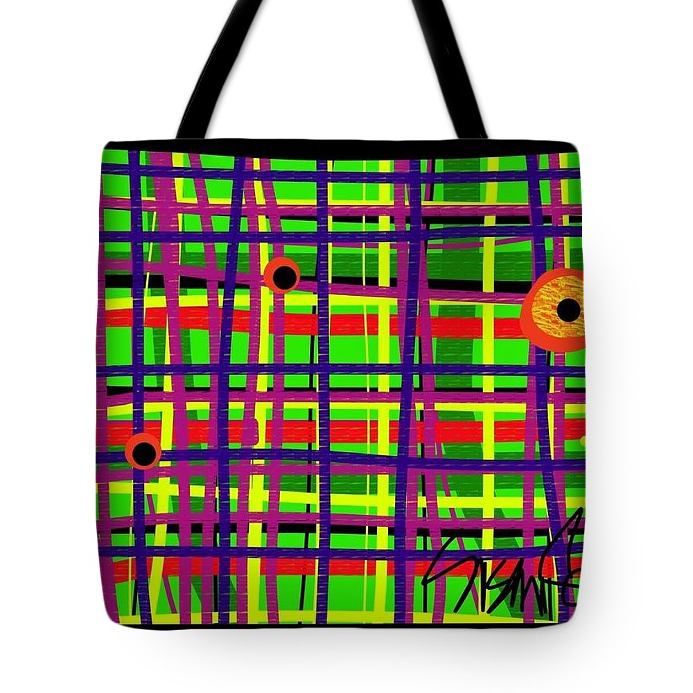Tote Bag featuring the digital art Eyes On The Grid by Susan Fielder