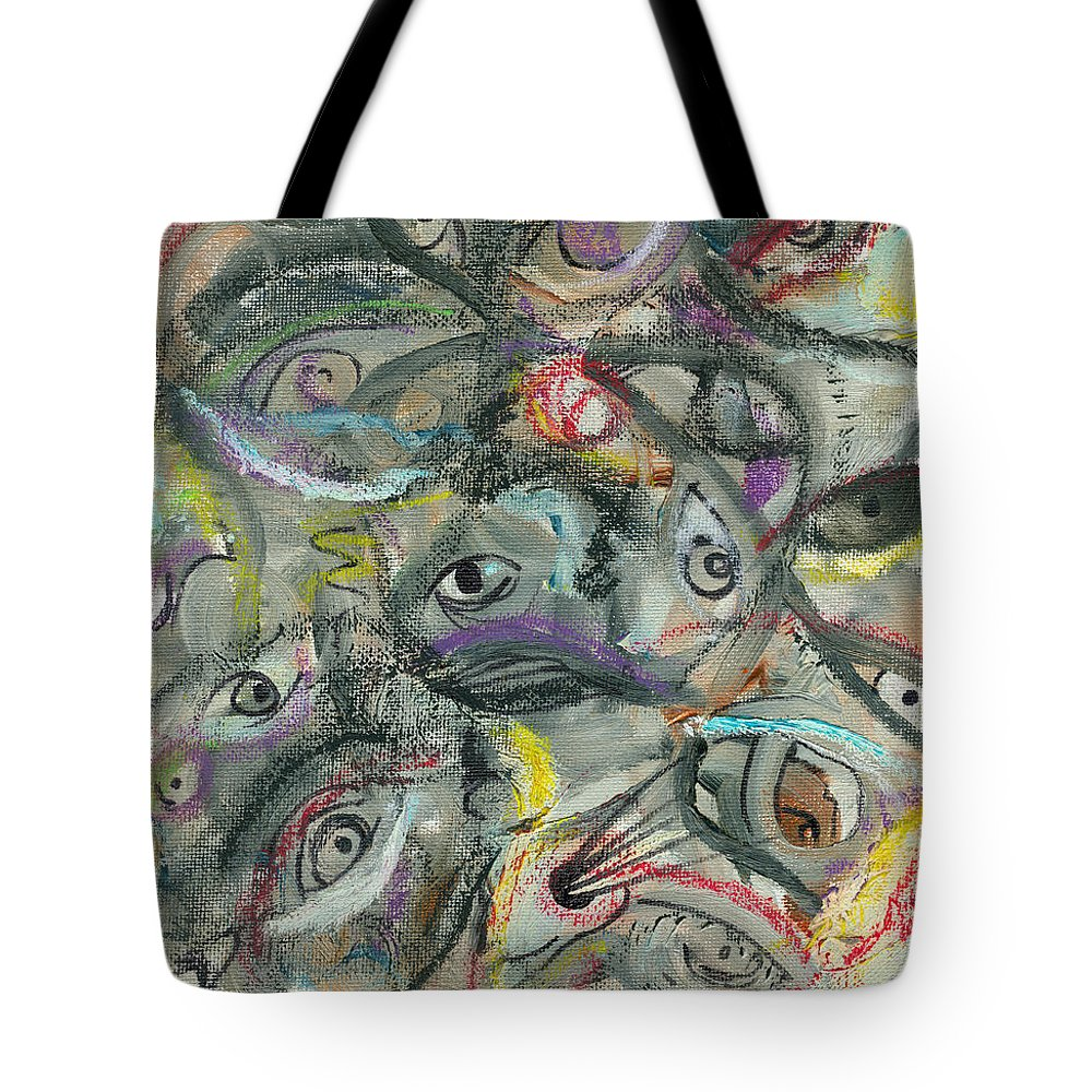 Eyes Tote Bag featuring the painting Eyescape by Jorge Delara