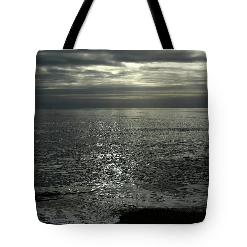 Eype Mouth Tote Bag featuring the photograph Eype Mouth Dorset by Mike Finding