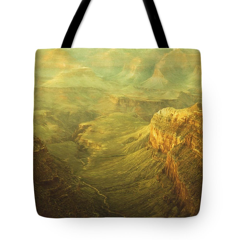 Ancient Tote Bag featuring the digital art Fabric Of Time by Will Jacoby Artwork