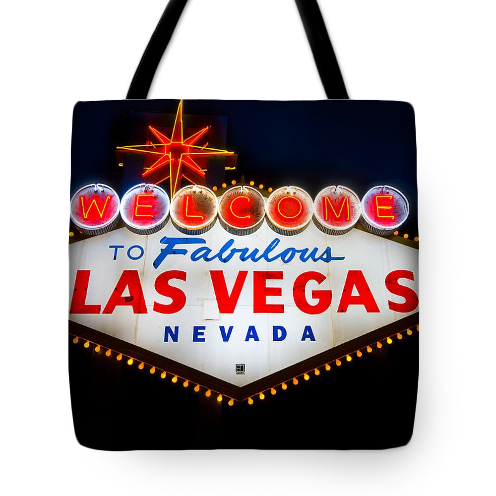 Casino Tote Bag featuring the photograph Fabulous Las Vegas Sign by Steve Gadomski