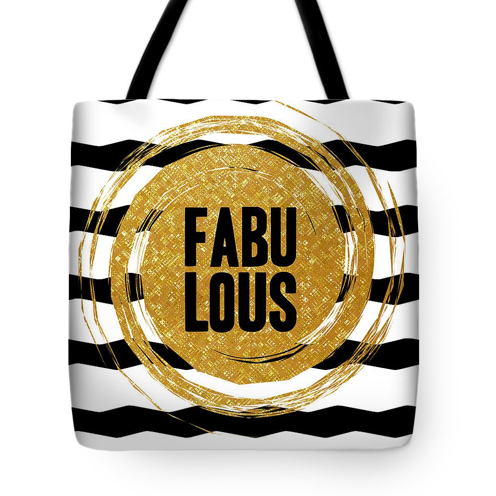 Fabulous Tote Bag featuring the digital art Fabulous by L Bee