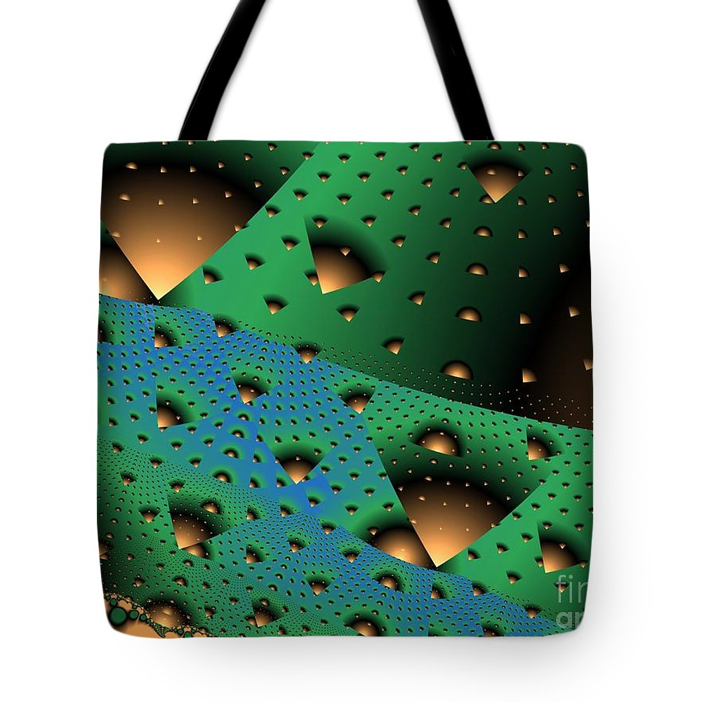 Fractal Art Tote Bag featuring the digital art Facades And Fenestration by Ron Bissett