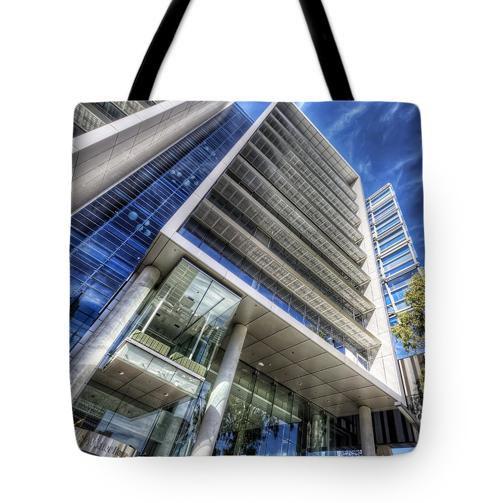 Facade Tote Bag featuring the photograph Facadism by Wayne Sherriff