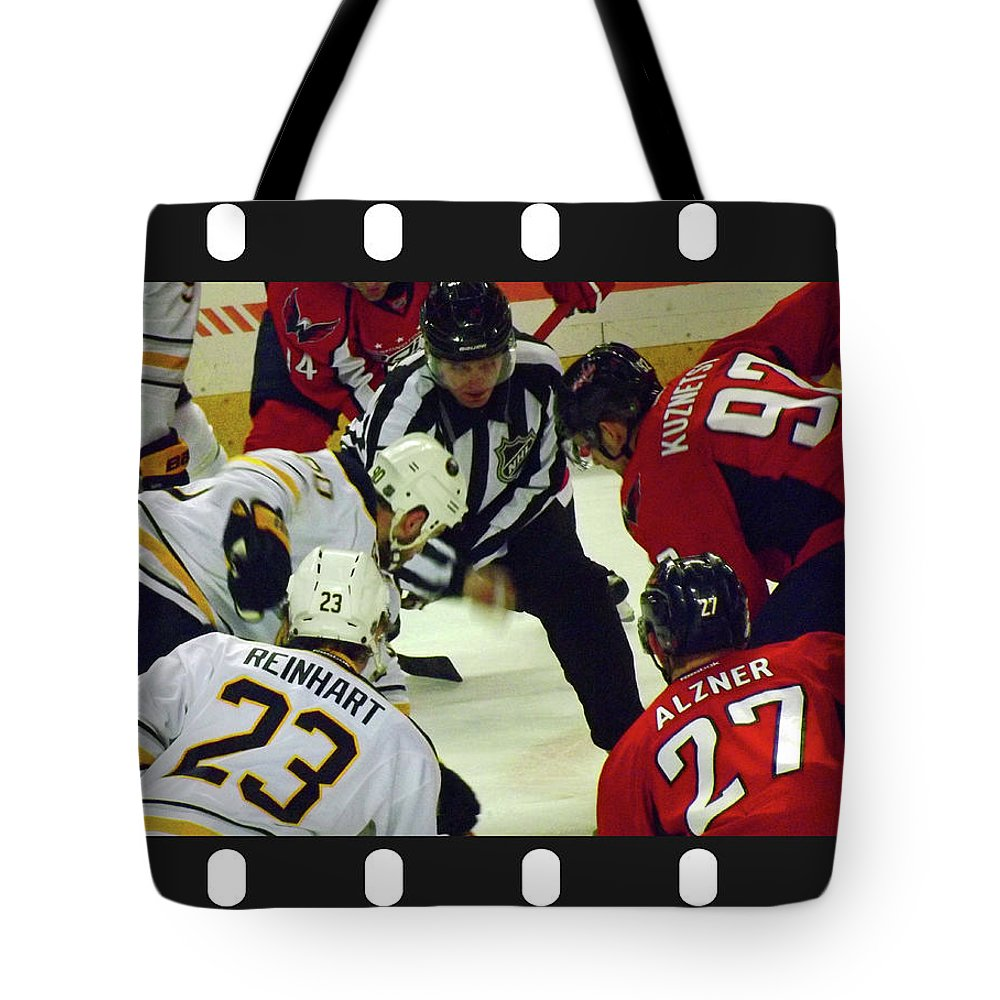 Joseph F Safin Tote Bag featuring the photograph Face Off by Joseph F Safin