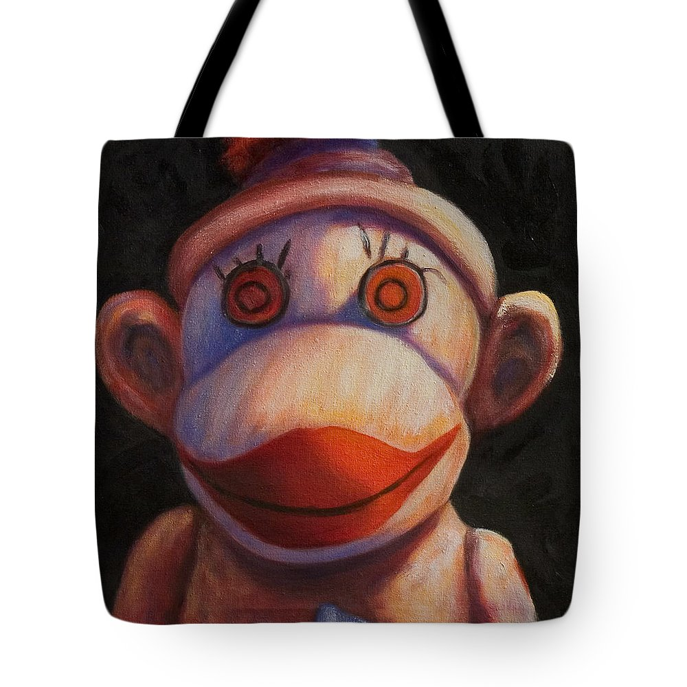 Children Tote Bag featuring the painting Face by Shannon Grissom