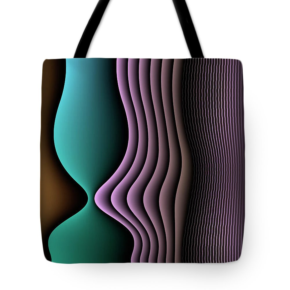Illuminated Abstracts Tote Bag featuring the digital art Face To Face by Becky Titus