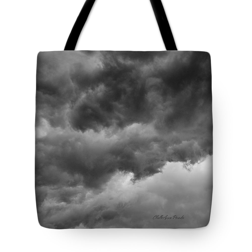 Clouds Tote Bag featuring the photograph Faces In The Mist Of Chaos by ChelleAnne Paradis
