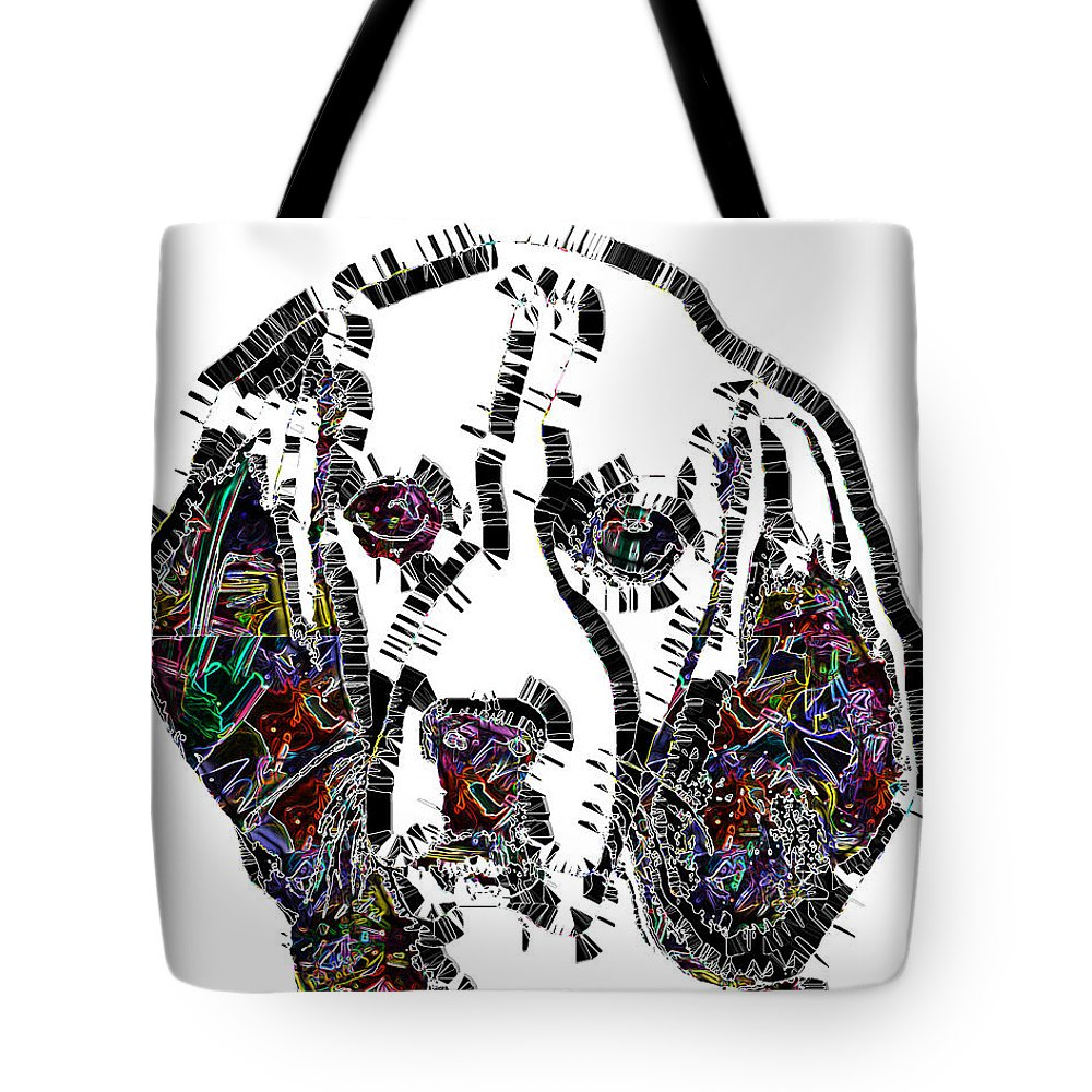 Pop Art Tote Bag featuring the digital art Faces Of Life 37 Beagle Color by Dalon Ryan