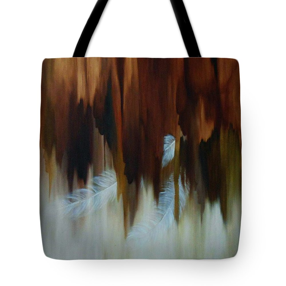 Oil Tote Bag featuring the painting Faces by Peggy Guichu