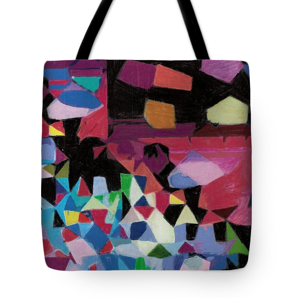 Abstract.abstraction Tote Bag featuring the painting Facet 20180714 by John Warren OAKES