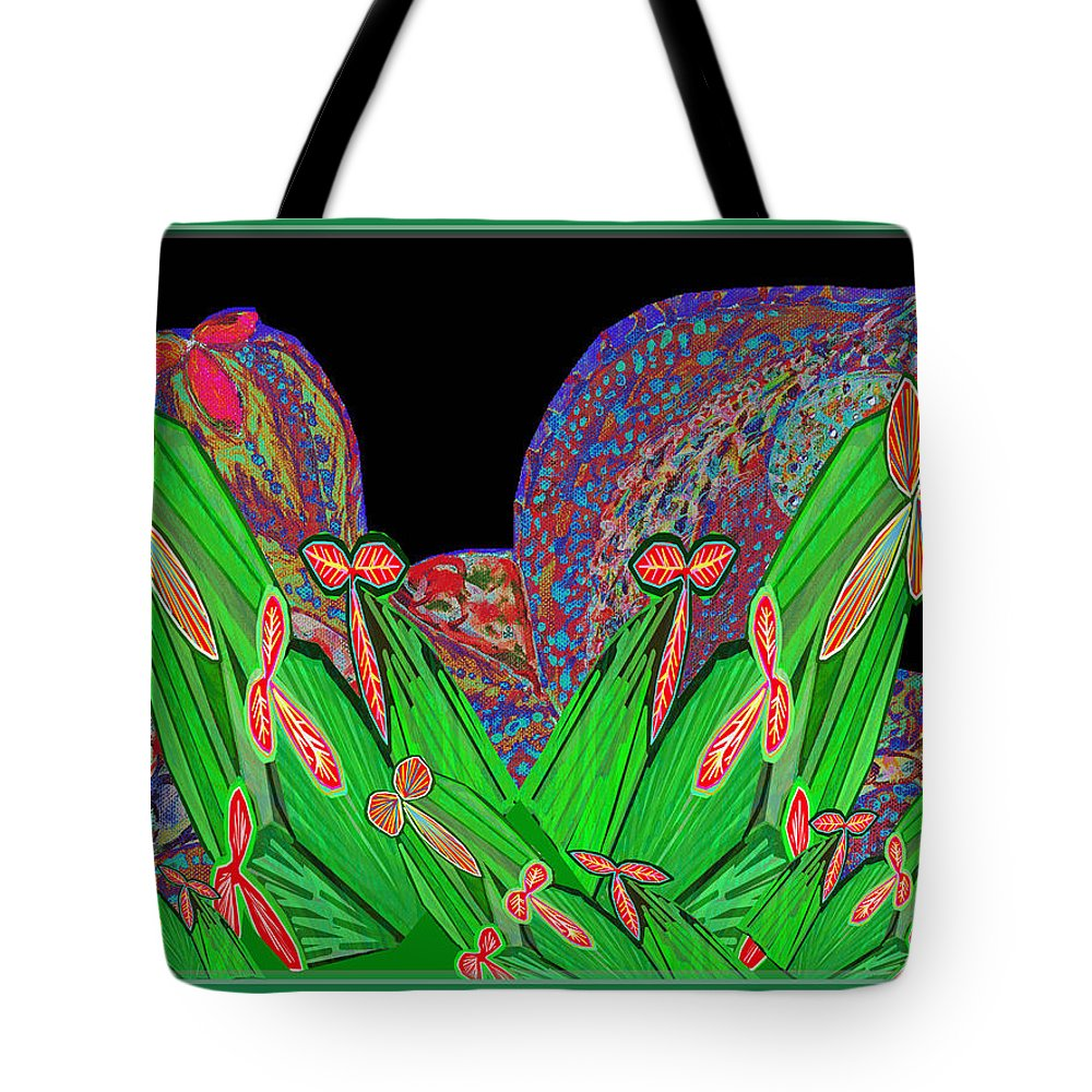 Cactus Tote Bag featuring the mixed media Facination For Cactus Plants And Flower by Navin Joshi
