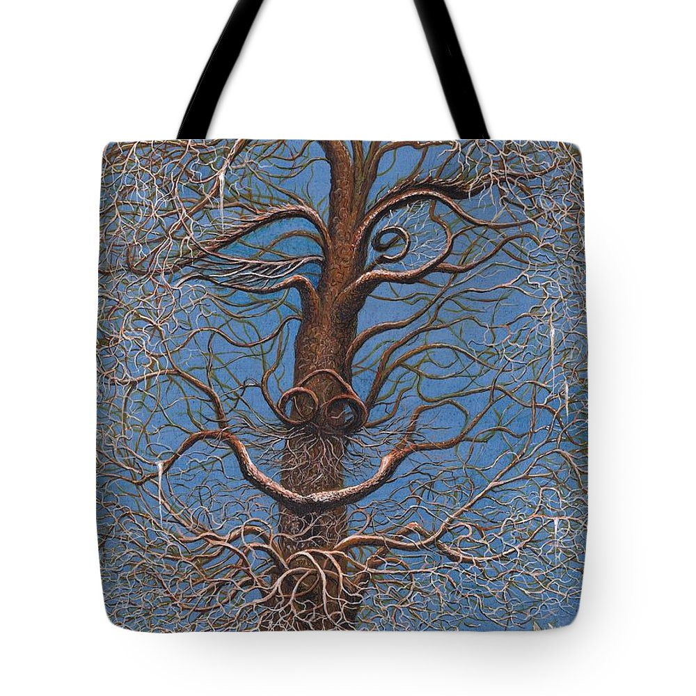 Tote Bag featuring the painting Facing A Frosty Sunset 2010 by Charles Cater