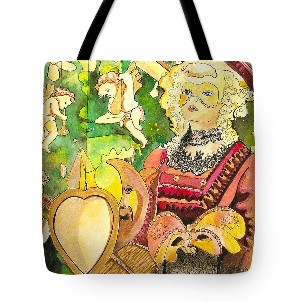 Fantacy Tote Bag featuring the painting Facing Dreams by Patricia Arroyo