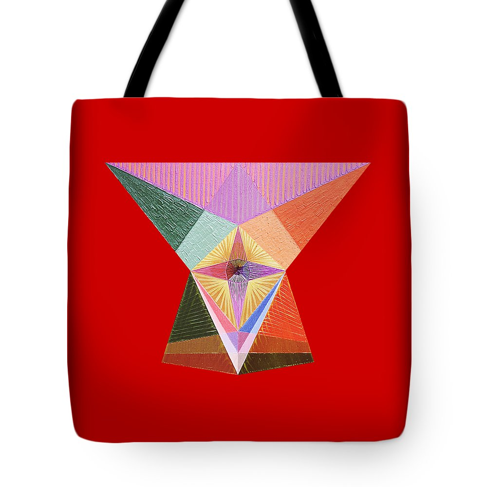 Contemporaryart Tote Bag featuring the painting Fact by Michael Bellon