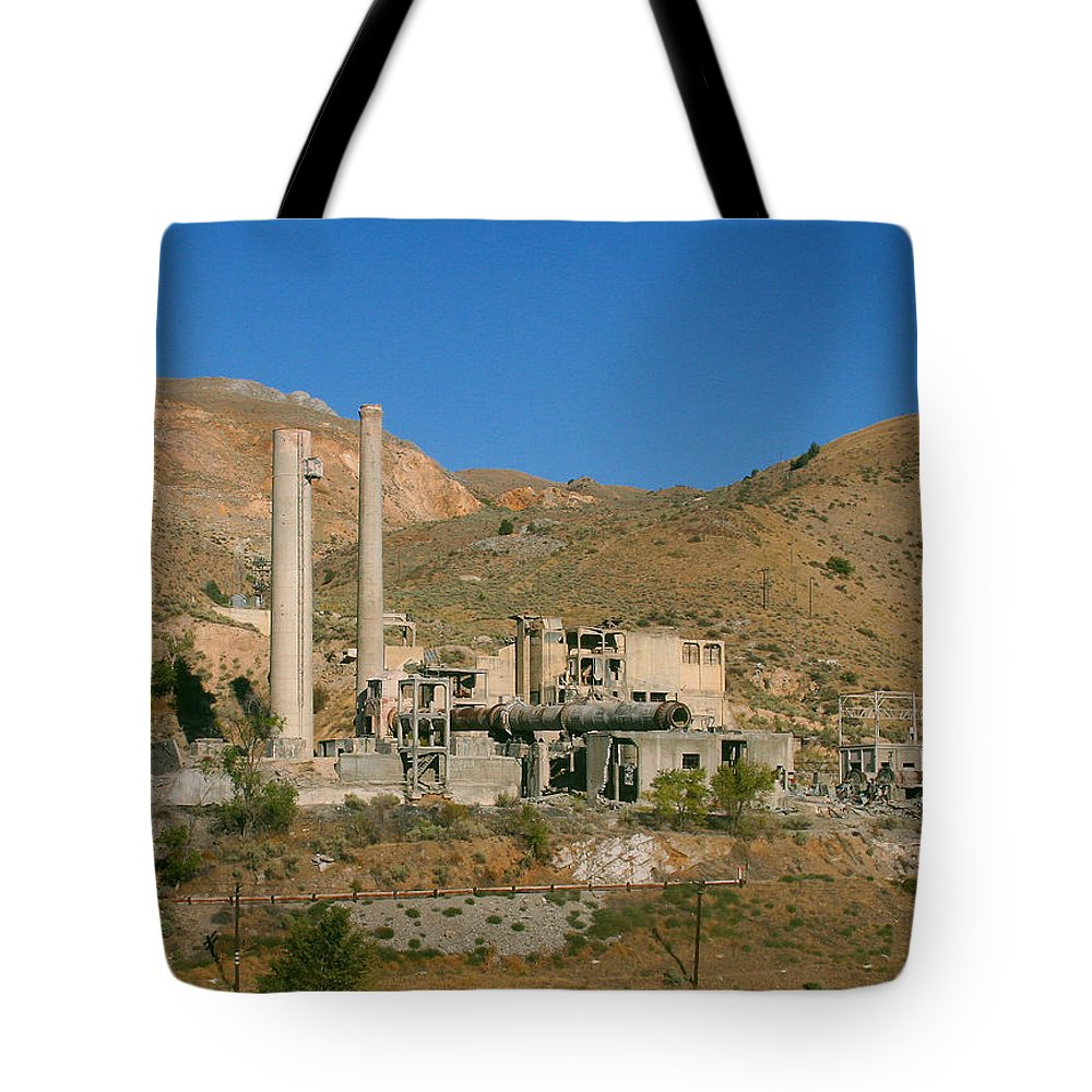 Pat Turner Tote Bag featuring the photograph Factory No More by Pat Turner