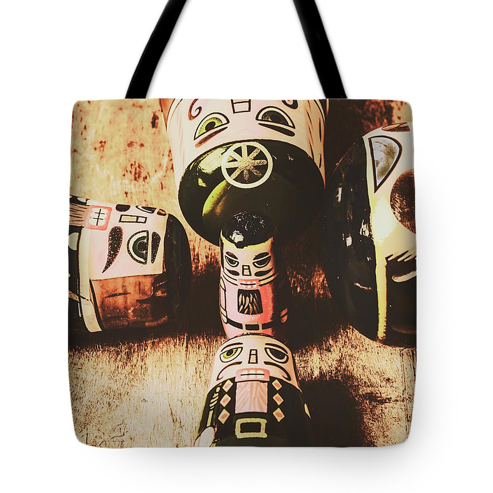 Tzar Tote Bag featuring the photograph Faded Old Toys From A Vintage Past by Jorgo Photography - Wall Art Gallery