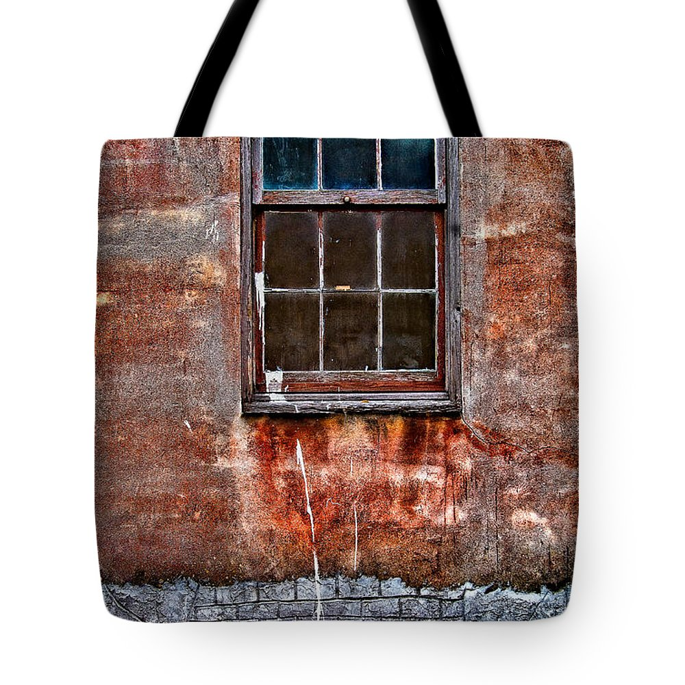 Window Tote Bag featuring the photograph Faded Over Time by Christopher Holmes