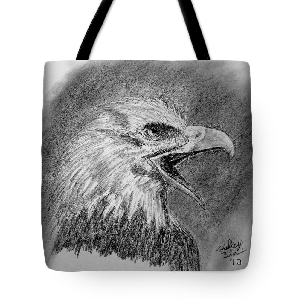 Eagle Tote Bag featuring the digital art Fading Cry by Shelley Blair