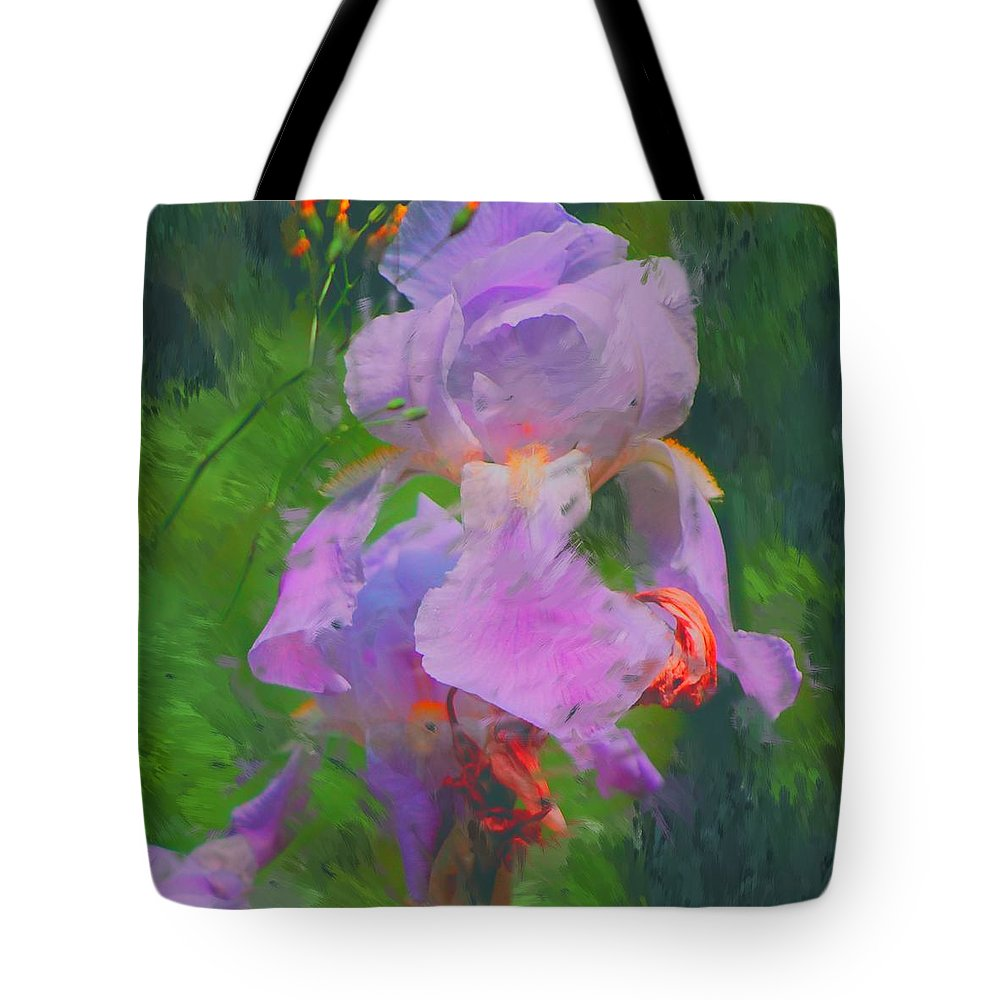 Iris Tote Bag featuring the painting Fading Glory by David Lane