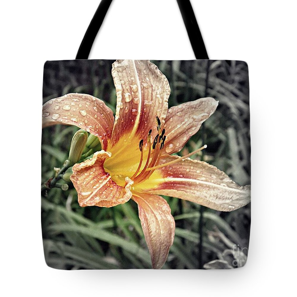 Lily Tote Bag featuring the photograph Fading Memory by Sarah Loft