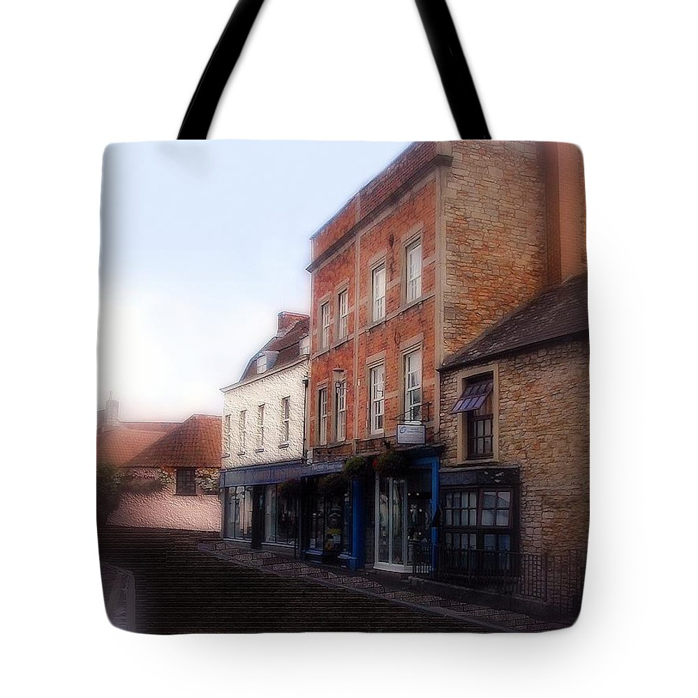 Buildings Tote Bag featuring the painting Fair Day Dawning by RC DeWinter