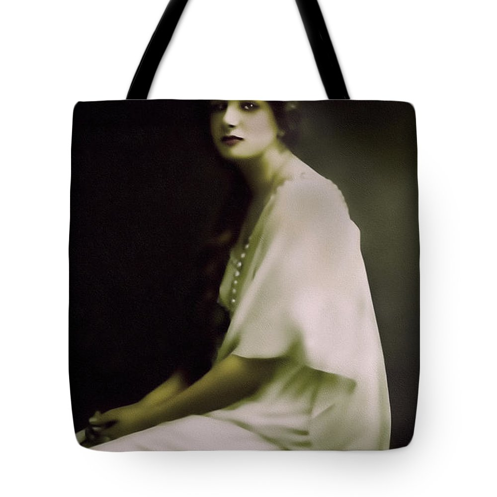 Portrait Tote Bag featuring the mixed media Fairest Indian Girl by Georgiana Romanovna