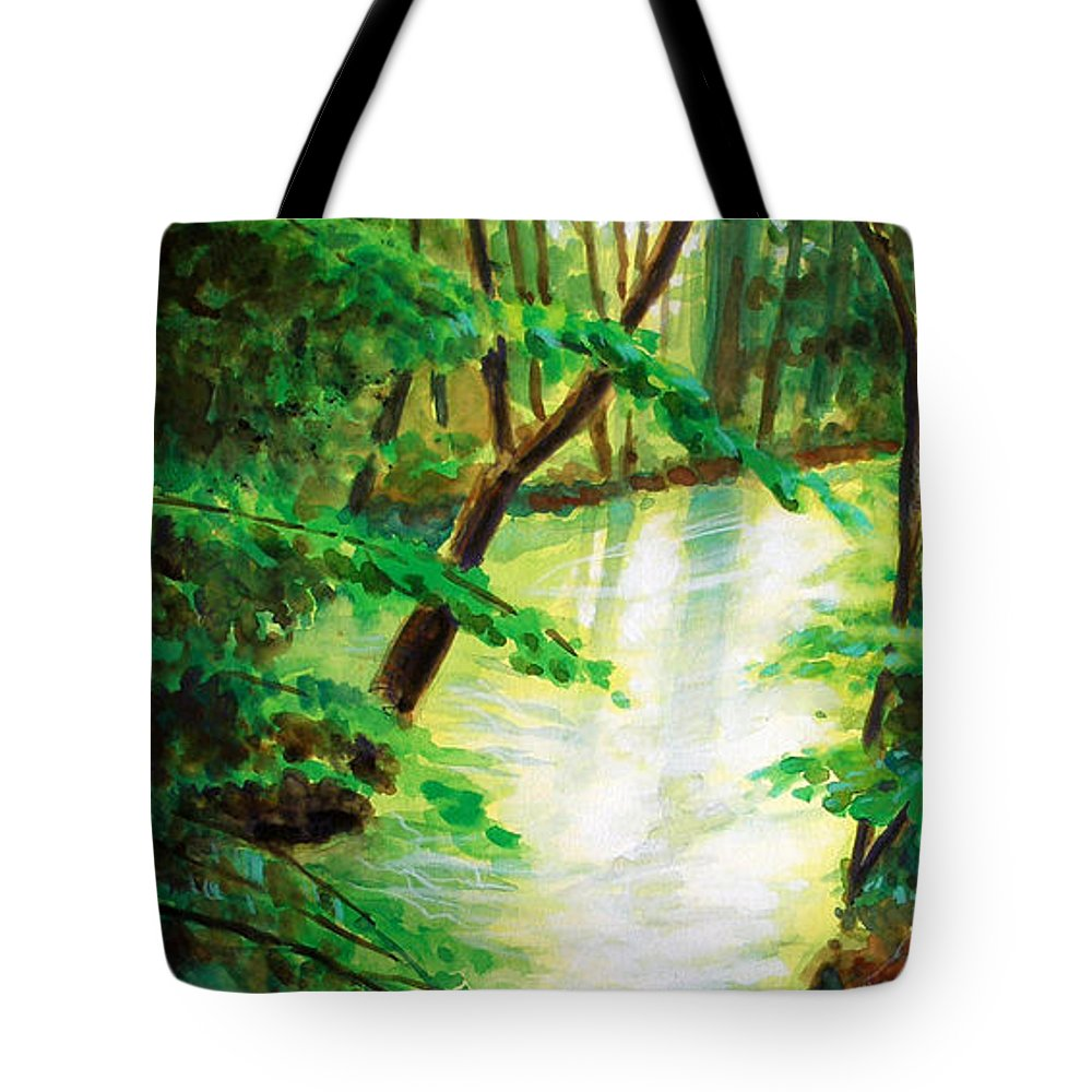 Forest Tote Bag featuring the painting Fairfax Summer by Ken Meyer