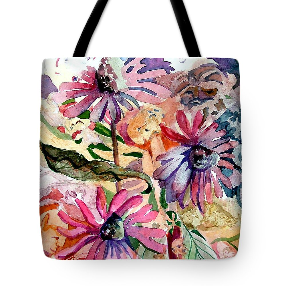 Daisy Tote Bag featuring the painting Fairy Land by Mindy Newman