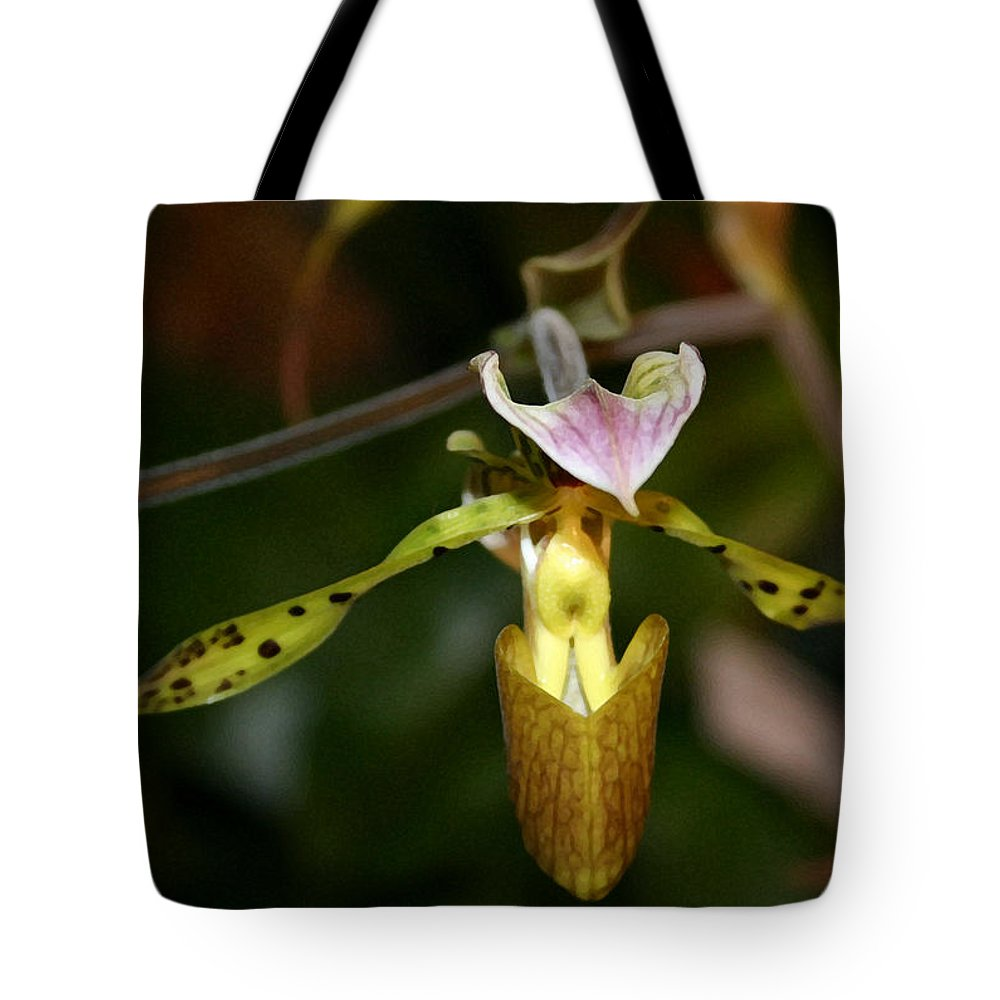 Orchid Tote Bag featuring the photograph Fairy Wings by Mary Haber