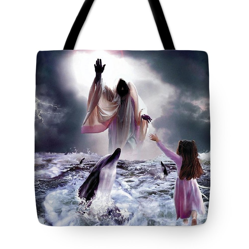 Children Tote Bag featuring the digital art Faith by Bill Stephens