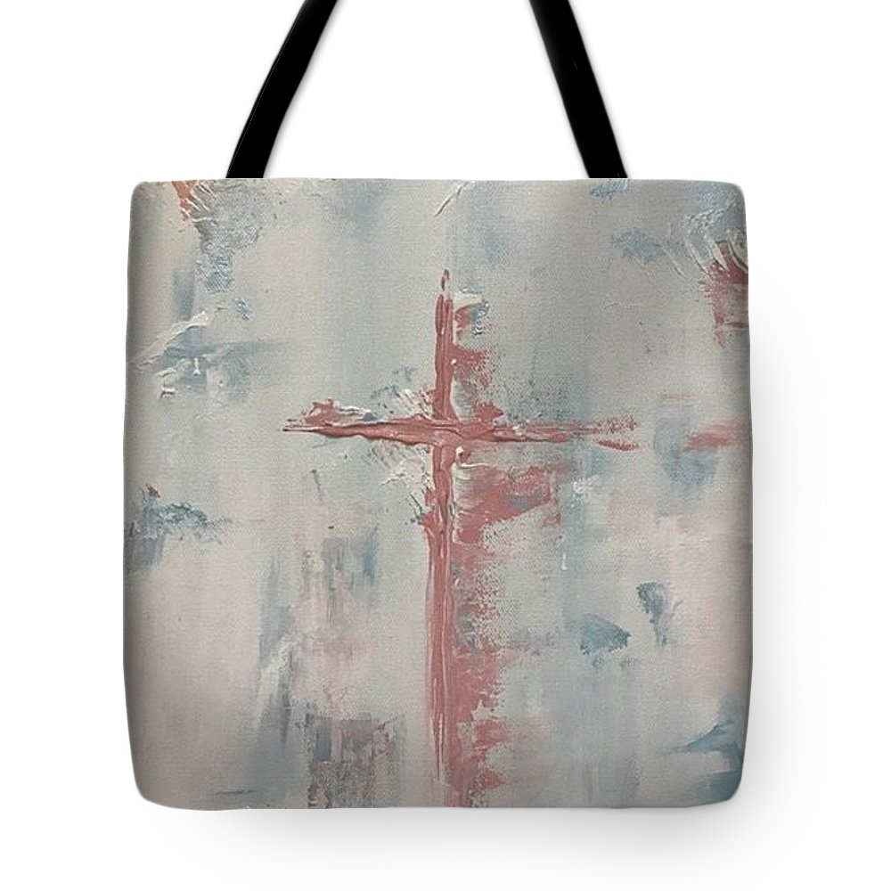 Abstract Cross Tote Bag featuring the painting Faith by Kimbra Bass