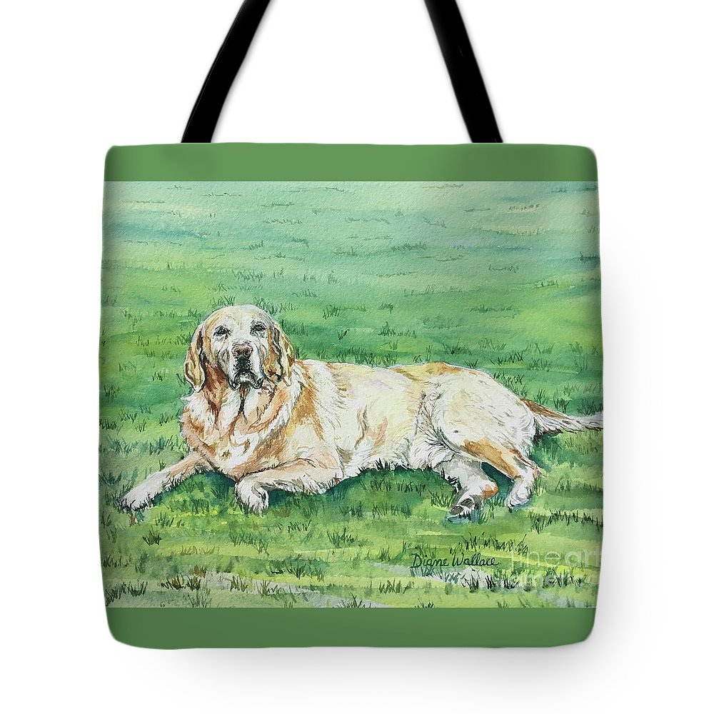 Labrador Retriever Tote Bag featuring the painting Faithful by Diane Wallace