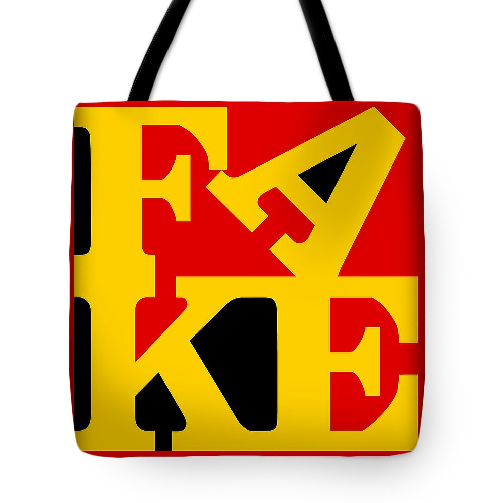 Water Tote Bag featuring the digital art Fake Three by Rob Sneyder