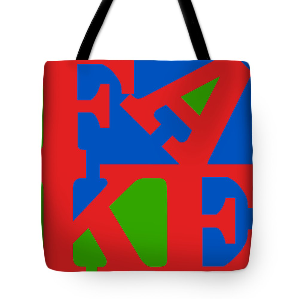Water Tote Bag featuring the digital art Fake Two by Rob Sneyder