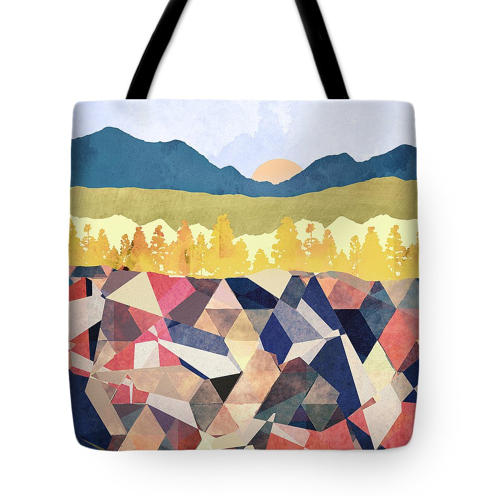 Fall Tote Bag featuring the digital art Fall Afternoon Light by Spacefrog Designs