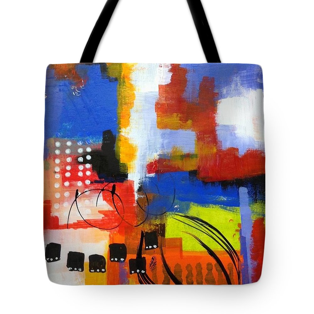 Tote Bag featuring the painting Day One...30 In 30 Challenge by Suzzanna Frank
