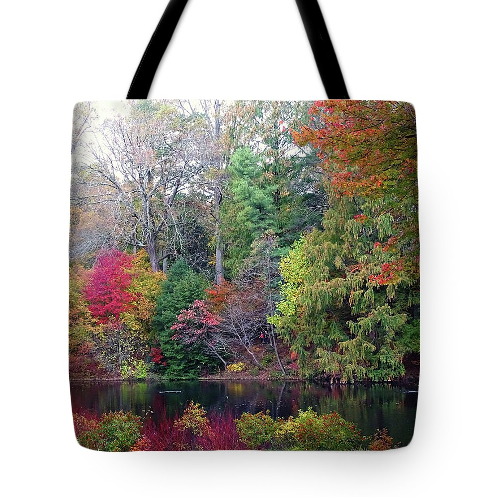 Fallcolors Tote Bag featuring the photograph Fall Colors by Deborah England