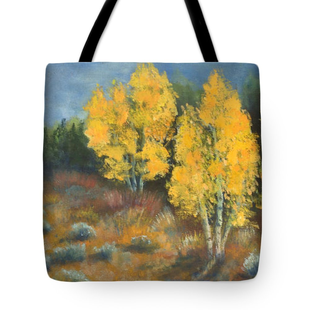 Landscape Tote Bag featuring the painting Fall Delight by Jerry McElroy