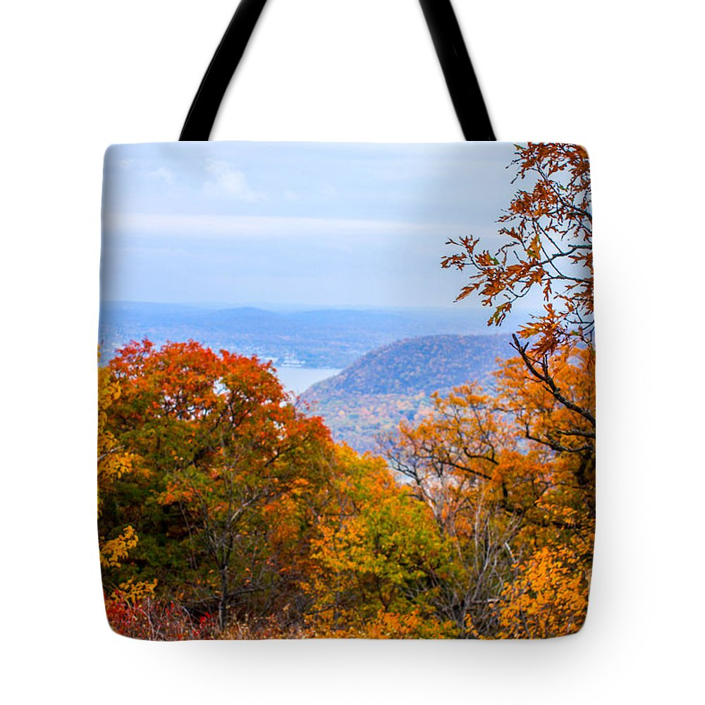 Bear Mountain Park Tote Bag featuring the photograph Fall Extreme by William Rogers